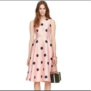 kate spade spotlight polka dot pink dress 6 nwot